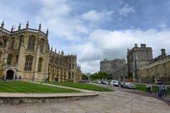 Extérieur de St Georges Chapel, Windsor Castle image stock