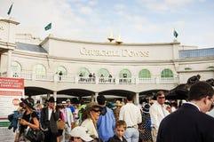 Extérieur de voie de course de cheval de Churchill Downs à Louisville, Kentucky Etats-Unis Photos libres de droits