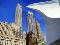 Extérieur de World Trade Center et immeubles de bureaux Image libre de droits