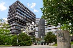 Extérieur du bâtiment moderne de l'Office européen des brevets Photographie stock libre de droits