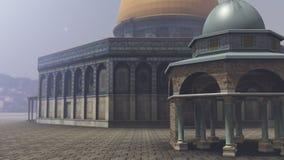 Extérieur du dôme de la roche à Jérusalem Images libres de droits