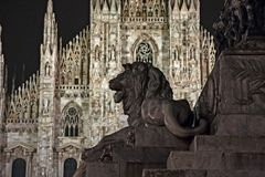 Extérieur du ` de Duomo de ` de Milan photographie stock