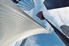Extérieur du hub de transport de WTC Image libre de droits