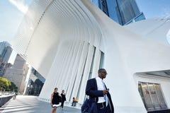 Extérieur du hub de transport de WTC Photographie stock