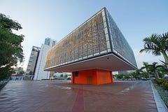 Extérieur du jeunes bâtiment/Bacardi nationaux de base d'arts il image libre de droits