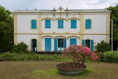 Extérieur du vieux bâtiment colonial du musée de Villele en Saint-Gilles-les-Bains, Reunion Island photos stock