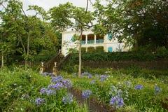 Extérieur du vieux bâtiment colonial du musée de Villele en Saint-Gilles-les-Bains, Reunion Island images stock