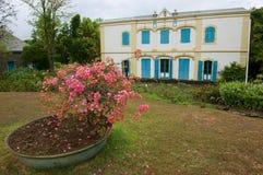 Extérieur du vieux bâtiment colonial du musée de Villele en Saint-Gilles-les-Bains, Reunion Island photographie stock libre de droits