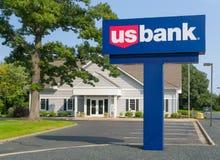 Extérieur et logo de banque des USA Image stock