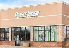 Extérieur et logo de vision de Pearle Photographie stock libre de droits