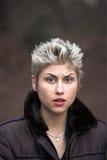 Extérieur expressif de femme étonné photographie stock libre de droits