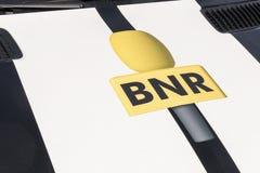 Extérieur installé par logo de BNR Image stock