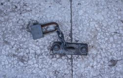 Extérieur métallique de cadenas photographie stock libre de droits