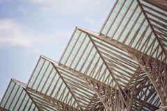Extérieur moderne de construction Détail d'architecture moderne Photos libres de droits