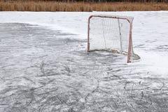 extérieur net d'hockey photographie stock libre de droits