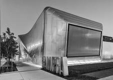 Extérieur noir et blanc de Berkeley Art Museum et de film Pacifique image libre de droits