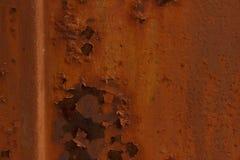 Extérieur peint endommagé par la corrosion photographie stock libre de droits