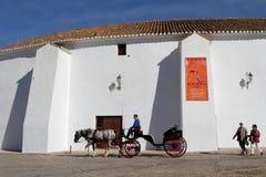 Extérieurs de Plaza de Toros Photo stock