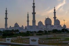 Extérieurs de Sheikh Zayed Mosque Photographie stock libre de droits