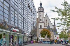 Ext?rieur de St Thomas Church Thomaskirche, une ?glise luth?rienne ? Leipzig, Allemagne image stock