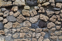 Extant ancient masonry. An ancient masonry is remaining at the Roman lost city Pompeii Stock Image