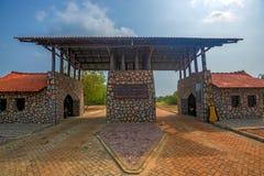 Extasie a porta do parque nacional de Yala, Sri Lanka Imagem de Stock