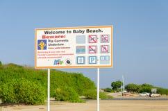 Extasie a vista da praia do bebê em Aruba Foto de Stock Royalty Free