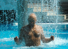 extasy κολύμβηση λιμνών Στοκ εικόνα με δικαίωμα ελεύθερης χρήσης