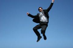 Extatische zakenman royalty-vrije stock fotografie