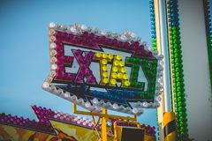 The EXTAZY thrill ride manufactured by Mondial Rides Stock Image