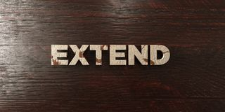 Extend - grungy wooden headline on Maple  - 3D rendered royalty free stock image. This image can be used for an online website banner ad or a print postcard Royalty Free Stock Photography