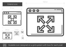Extend line icon. Royalty Free Stock Photography