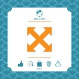 Extend, resize, enlarge icon. Element for your design Stock Image