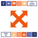 Extend, resize, enlarge icon. Element for your design . Signs and symbols - graphic elements for your design Stock Photo