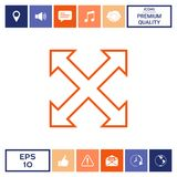 Extend, resize, enlarge line icon. Signs and symbols - graphic elements for your design Royalty Free Stock Image