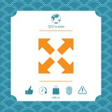 Extend, resize icon. Cross arrow sign. Element for your design Royalty Free Stock Images