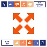 Extend, resize icon. Cross arrow sign. Element for your design . Signs and symbols - graphic elements for your design Stock Photography