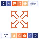 Extend, resize line icon. Element for your design . Signs and symbols - graphic elements for your design Stock Images