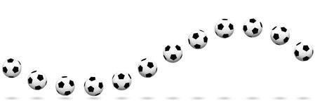 Extendable волны футбольного мяча безшовное Стоковые Изображения RF