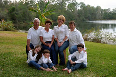 Extende family outside stock photography