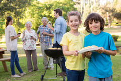 Extended family having a barbecue Stock Photography