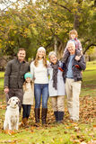 Extended family posing with warm clothes Royalty Free Stock Images