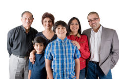 Extended Indian Family. An extended Indian family all pose together in a fun setting Royalty Free Stock Image