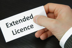 Extended Licence Stock Image
