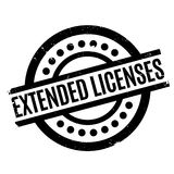 Extended Licenses rubber stamp Stock Photo