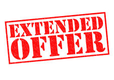 EXTENDED OFFER Royalty Free Stock Image