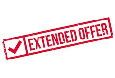 Extended Offer rubber stamp Royalty Free Stock Image