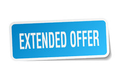 Extended offer sticker Royalty Free Stock Photography