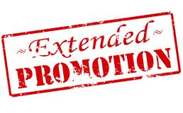 Extended promotion. Rubber stamp with text extended promotion inside,  illustration Royalty Free Stock Photo