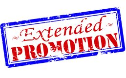 Extended promotion. Rubber stamp with text extended promotion inside,  illustration Royalty Free Stock Images